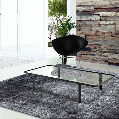 alfombra moderna / con motivos / de poliéster / de algodón