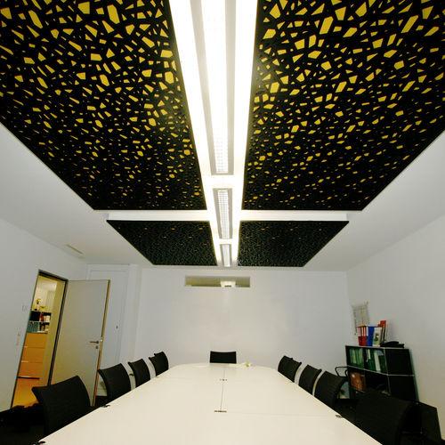 panel acústico para falso techo