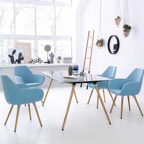 sillón de oficina contemporáneo / de tejido / aluminio / ajustable en altura