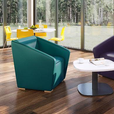sillón contemporáneo / de tejido / verde / contract