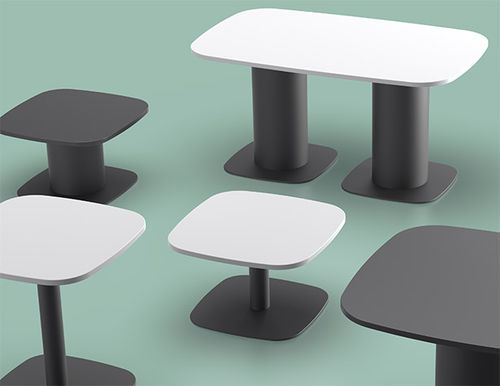 mesa de comedor contemporánea / de aglomerado / de laminado de alta presión / de PVC