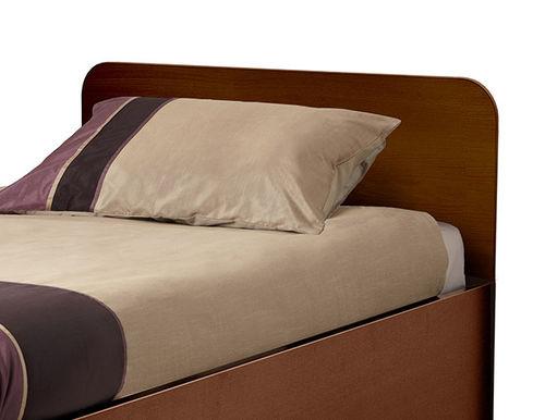 cabecero para cama sencilla / contemporáneo / de nogal