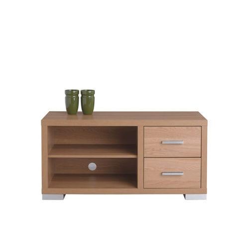 mueble de televisión contemporáneo / lowboards / de nogal