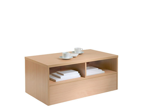 mesa de centro contemporánea / de melamina / con base de melamina / rectangular