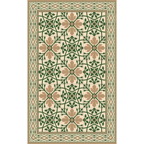 alfombra contemporánea / de flores / de vinilo / rectangular
