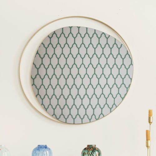 espejo de pared / contemporáneo / redondo / de latón