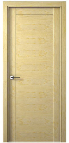 puerta de interior / abatible / de madera maciza / de chapa de madera