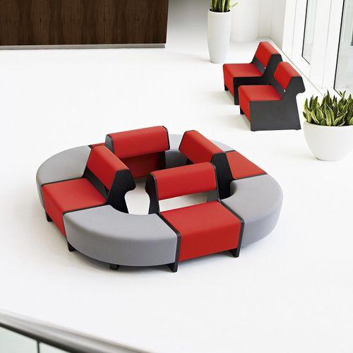 banqueta modular / contemporánea / de cuero / de tejido