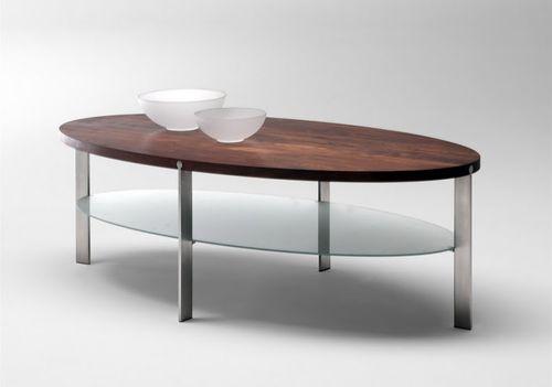 mesa de centro moderna / de roble / de nogal / de fresno