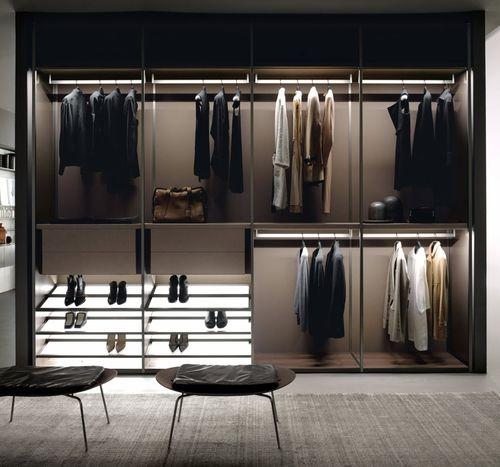 armario de pared / contemporáneo / de aluminio / de melamina
