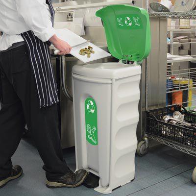 contenedor de basura / de plástico reciclado / de reciclaje / para el sector servicios