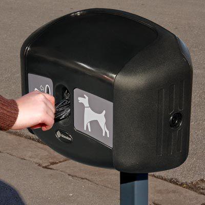 dispensador de bolsas para excrementos de perro