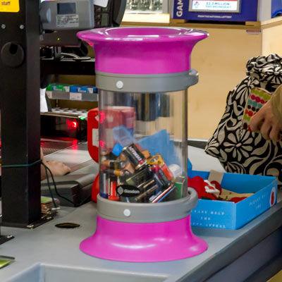 contenedor para pilas