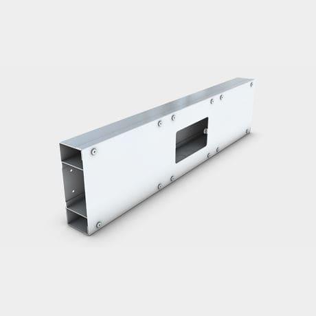 canaleta de cableado de acero / de pared / profesional
