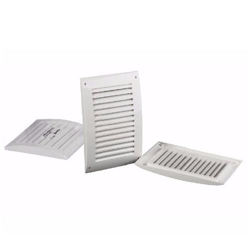 rejilla de ventilación de ABS / rectangular / cuadrada / blanca