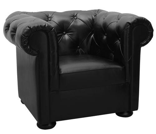 sillón Chesterfield / de cuero / para hotel / para oficina