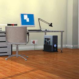 canaleta de cableado de aluminio / de PVC / de pared / para escritorio