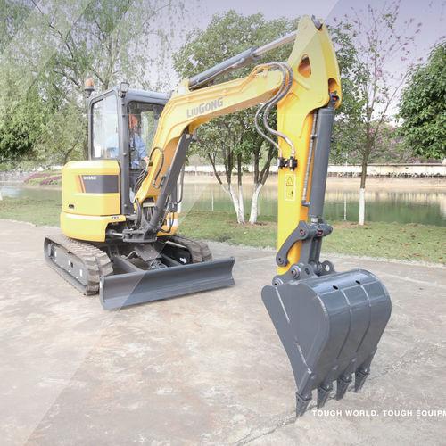 excavadora mini / con orugas / compacta / de bajo consumo de combustible