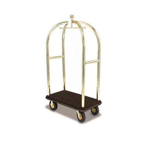 carrito para equipaje / para el sector servicios / para hotel / de acero inoxidable