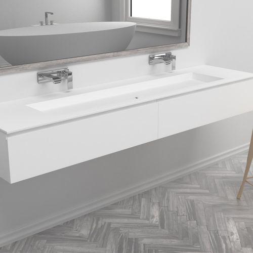 mueble de lavabo doble / suspendido / de MDF / de Corian®