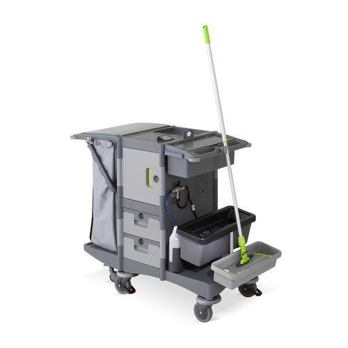 carrito de limpieza / para el sector servicios / de plástico