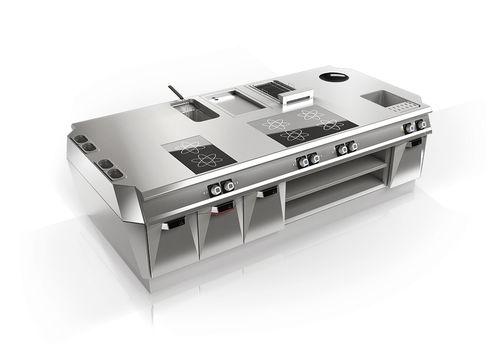 cocina profesional de acero inoxidable / modular / compacta / a medida