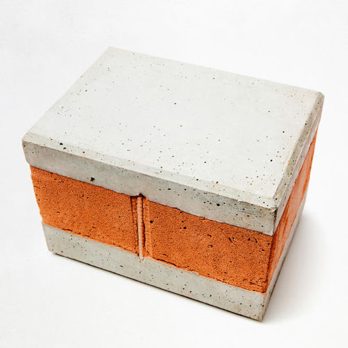 bloque de hormigón macizo