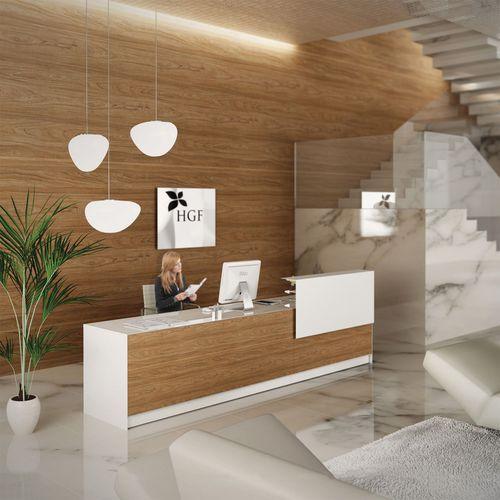 mostrador de recepción modular / de madera