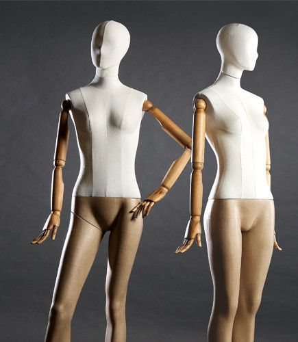 maniquí mujer / abstracto / sedente / flexible