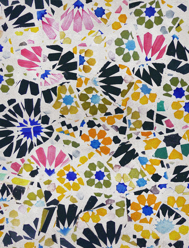 alfombra moderna / de flores / de lana / de seda