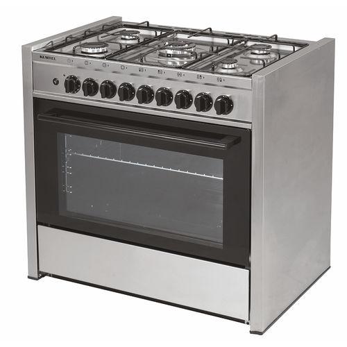 cocina con horno de gas / de acero inoxidable / de hierro fundido / wok