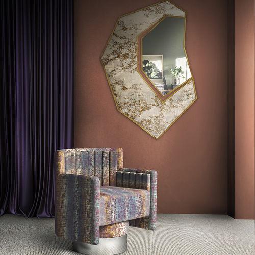 espejo de pared / contemporáneo / para el sector servicios / de latón