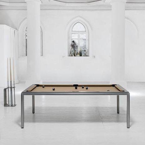 mesa de billar contemporánea / convertible en mesa de comedor / para el sector servicios