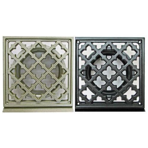 rejilla de ventilación de aluminio / cuadrada / para el suministro y el retorno de aire