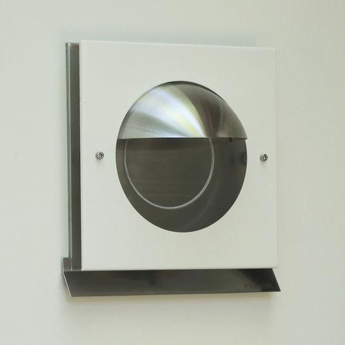 rejilla de ventilación de acero inoxidable / cuadrada / para el suministro y el retorno de aire / blanca