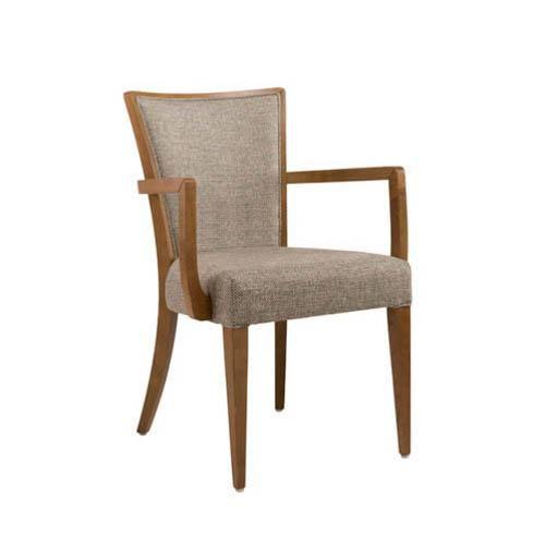 silla de visita contemporánea / con reposabrazos / tapizada / de tejido