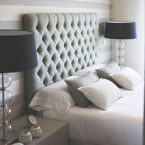 cabecero para cama doble / contemporáneo / de pino / de tejido
