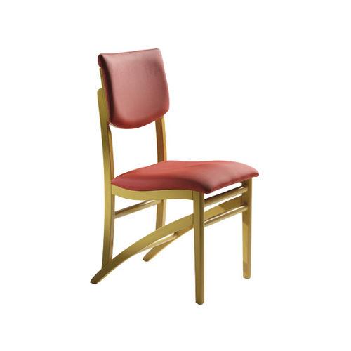 silla contemporánea / tapizada / de madera / para centro sanitario