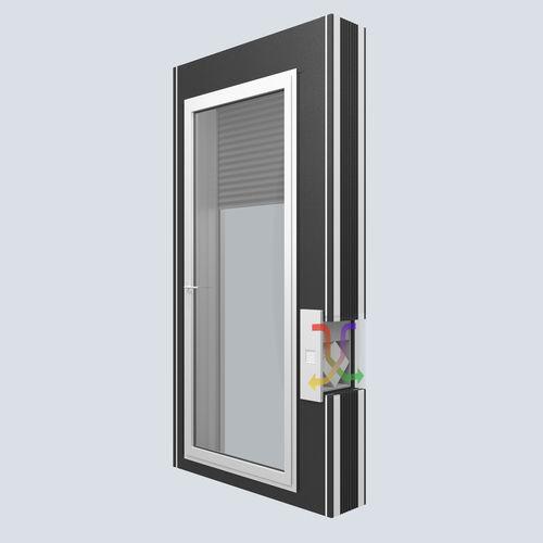 persiana exterior / para ventana / acústica / con aislamiento térmico