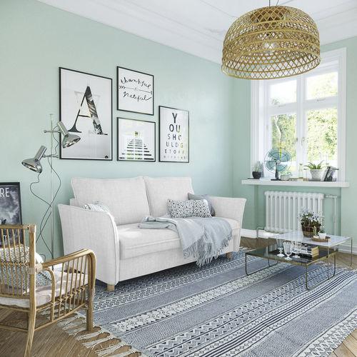 sofá cama / de diseño escandinavo / de tejido / de cuero