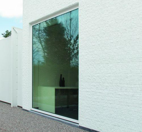 ventanal de aluminio / con vidrio doble / con aislamiento térmico / de seguridad