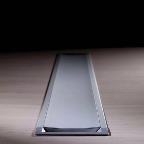 canaleta de cableado de aluminio / para escritorio / profesional