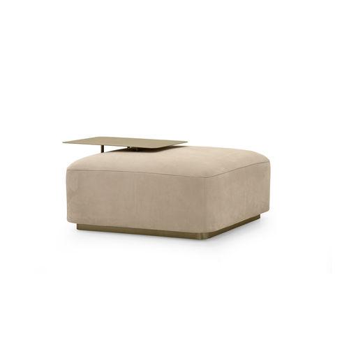 otomana contemporánea / de cuero / de metal dorado / rectangular