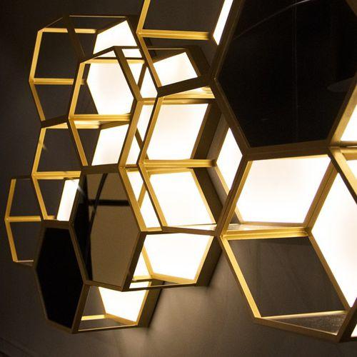 aplique de diseño original / de metal / hexagonal