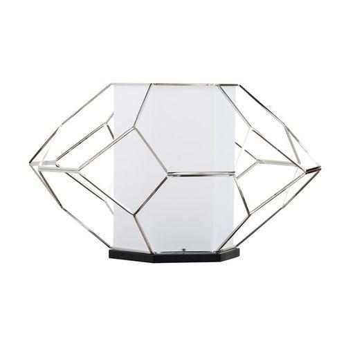 lámpara de mesa / contemporánea / de níquel / de interior