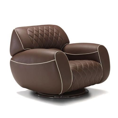 sillón clásico / de cuero / giratorio / club