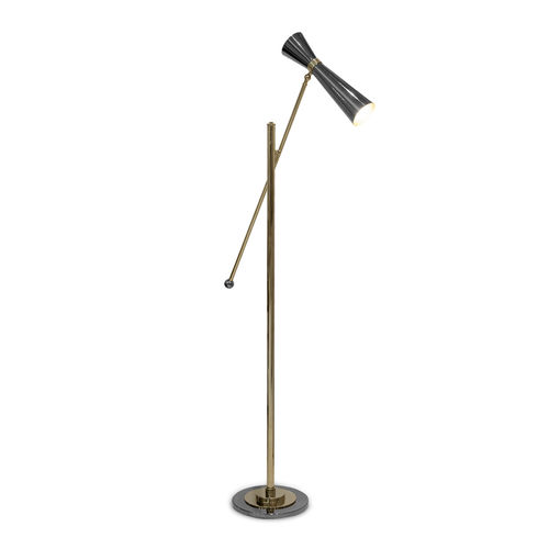 lámpara de pie / contemporánea / de oro / de interior