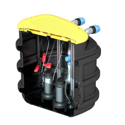 tanque enterrado / para tratamiento de aguas residuales / de PVC / de polietileno
