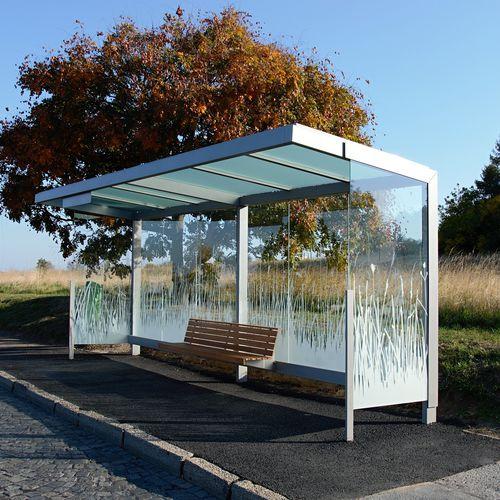 parada de autobús de vidrio - STREETPARK s.r.o.