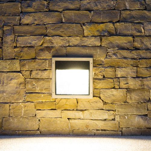 luminaria empotrable de pared